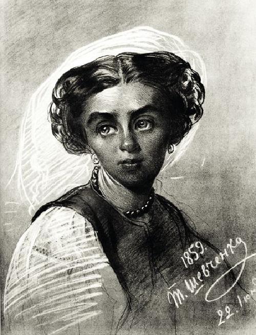 Портрет М.В.Максимович (1859). Автор: Т.Шевченко.
